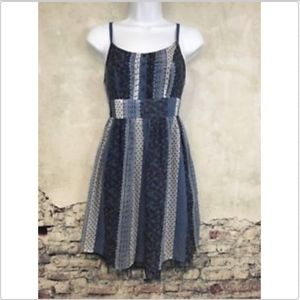 Ezra Spaghetti Strap Dress Juniors Small Blue